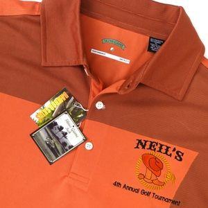 SKINS GAME men's golf polo shirt orange XL NEW